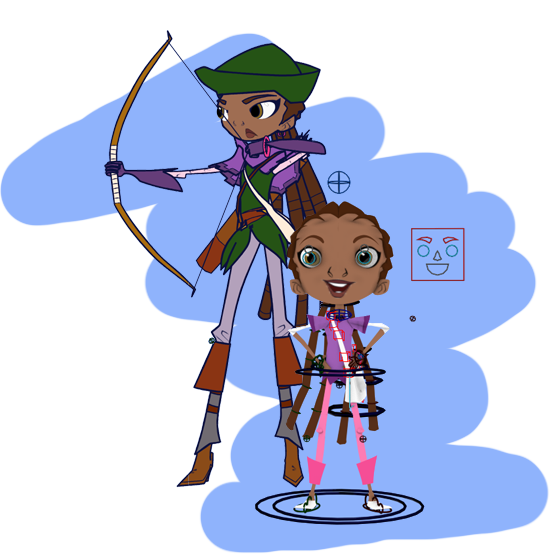 Gemma's Archer and Kid Rigs